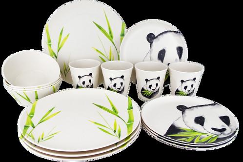 Conjunto 16PC Nature Panda-Bambus