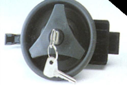 Fechadura plástica redonda preta