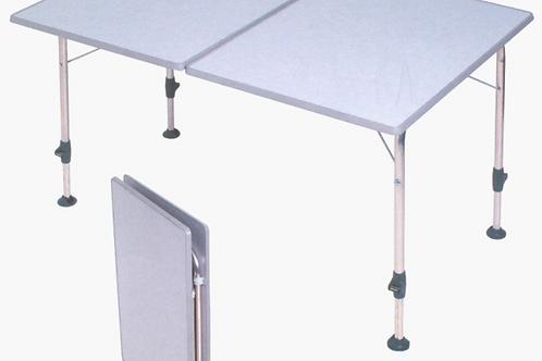 Mesa cinza claro rectangular á prova de água