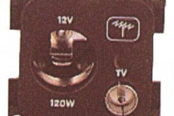 Tomada 12V grande cinzade antena sem caixa de proteção