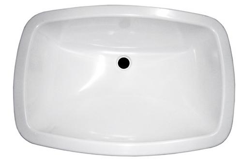 Lavatório oval branco