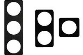 Aro Duplo preto hante para tomada/interruptor Berker Integro Classic