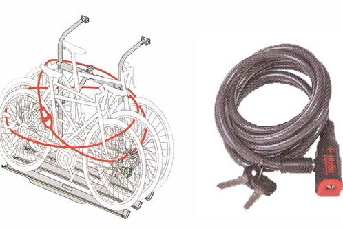 Espia de segurança com 2,5 mts para bicicletas