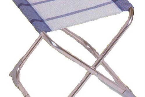 Banco em alumínio, tecido tipo rede