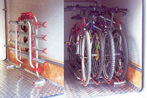 Suporte de 4 bicicletas p/ garagem com Bike-Block