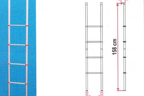 Escada de 4 degraus em alumínio para interior