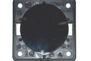 Interruptor simples preto brilhante Berker Integro