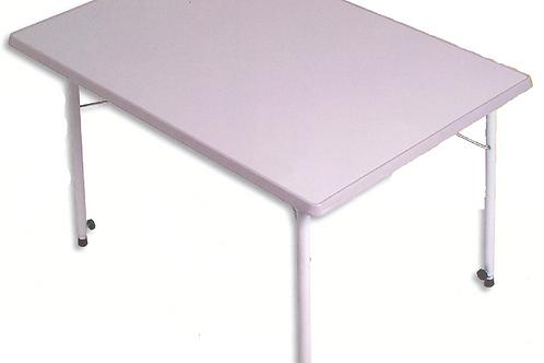 Mesa branca rectangular á prova de água