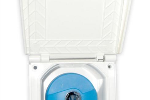 Entrada água quadrada branca 40mm