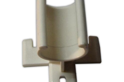 Suporte plástico branco para manípulo de chuveiro