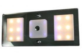 Aplique led 12V luz azul e luz branca, regulável por toque