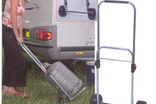 Carro extensível c/ rodas p/ transporte de garrafa