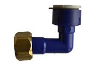Ligador curvo com encaixe rapido 12mm/ rosca 1/2