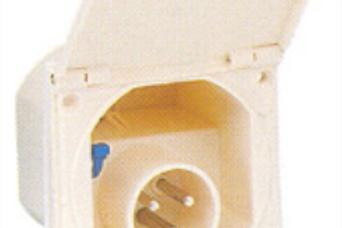 Tomada CEE exterior branca (P17)