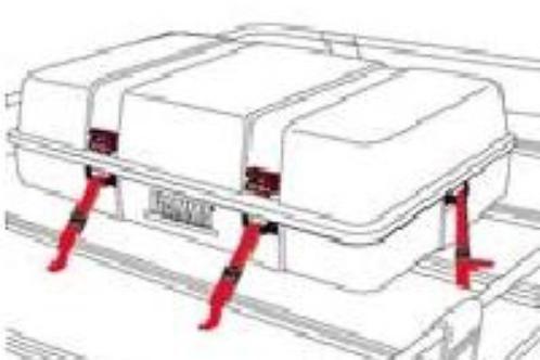 Kit de fitas auxiliar de fixação para top-box