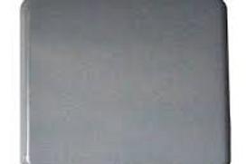 Aro preto simples com tampa para interruptores/tomadas Berker