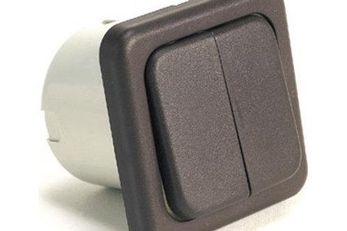 Interruptor duplo cinzasem caixa de proteção
