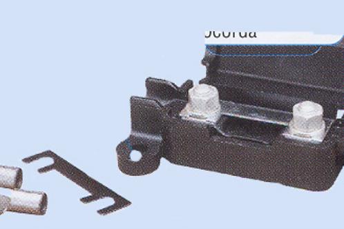 Porta fusíveis com dois fusíveis de 50 Ap