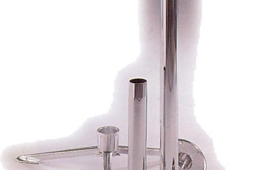 Base cónica alumínio para tubo