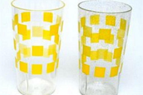 Copo amarelo em policarbono 30cl