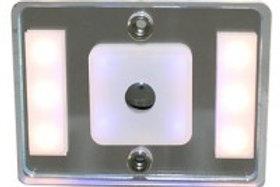 Aplique led 12V luz azul e luz branca regulável por toque