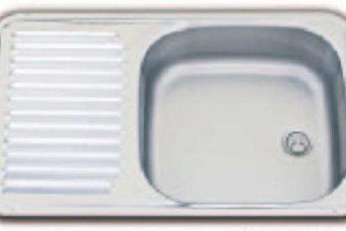 Lava loiça inox com escorredor 370 x 590 mm