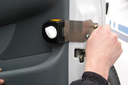 Fecho de segurança sem chave para porta de cabine