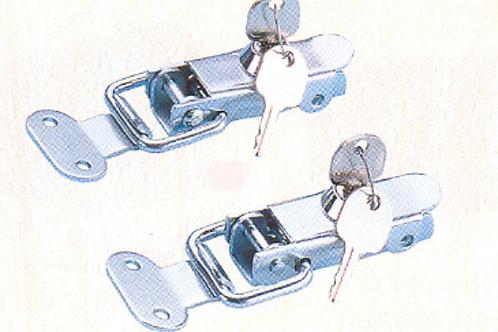 Dobradiça metálica com chave