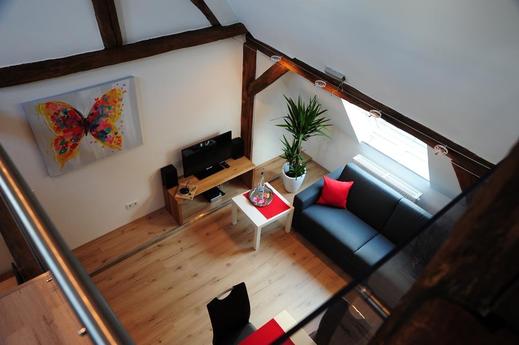 Wohnraum vom Spitzboden