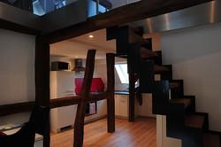 Kürche mit Treppe zum Spitzboden