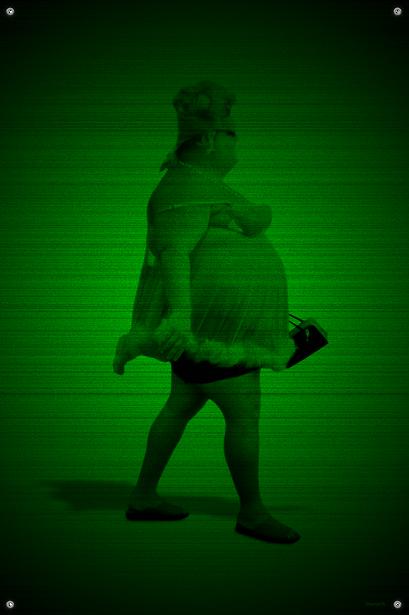 Black & Green (Big Girl) #9