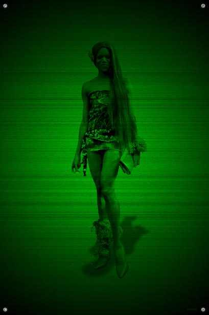 Black & Green (Flower) #15