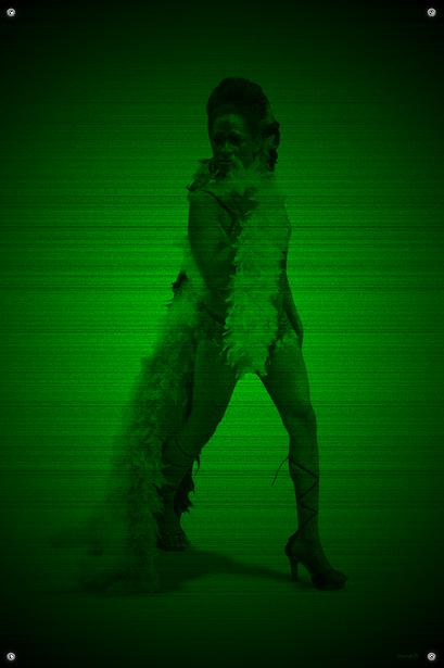 Black & Green (Cat) #20