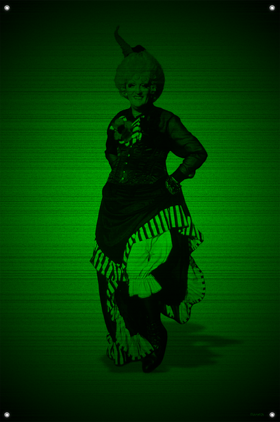 Black & Green (Rose) #13