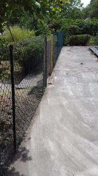 Installation d'une clôture