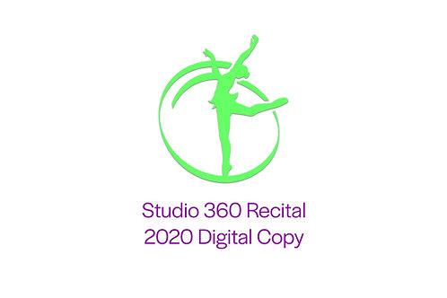 Studio 360 Recital 2020 DIGITAL CODE
