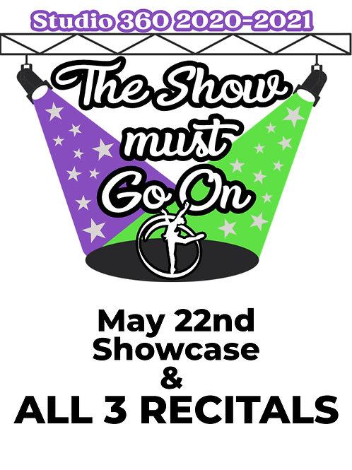 2021 Studio 360 Showcase & ALL Recitals DIGITAL CODE