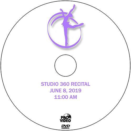 STUDIO 360 2019 RECITAL DVD - 11:00 AM