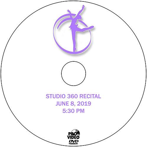 STUDIO 360 2019 RECITAL DVD - 5:30 PM