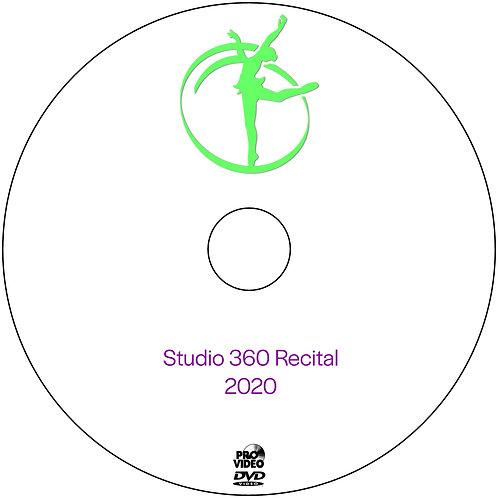 Studio 360 Recital 2020 DVD