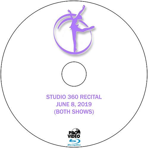 STUDIO 360 2019 RECITAL BLU RAY (BOTH SHOWS)