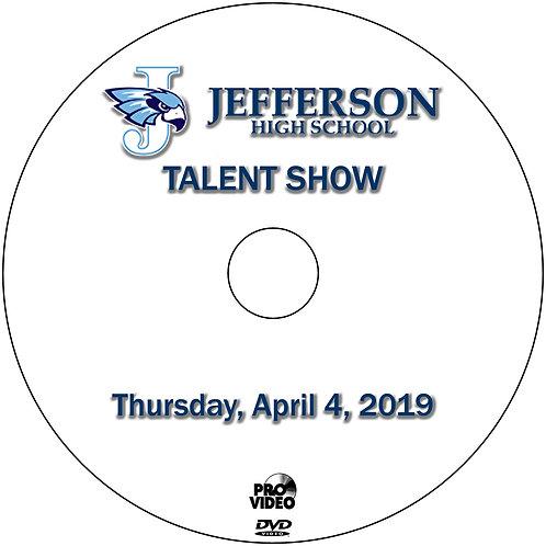2019 Jefferson Talent Show - April, 4 DVD