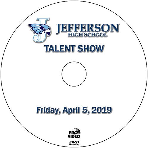 2019 Jefferson Talent Show - April, 5 DVD
