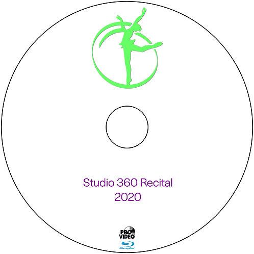 Studio 360 Recital 2020 Blu Ray