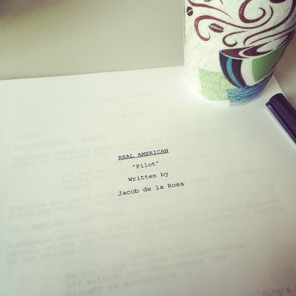 Pilot script and coffee on day 1