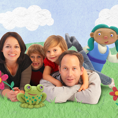 I designed and sculpted characters for a children's show pitch developed at Little Airplane Productions.  I made them from polymer clay, and composited them into a stock image using Photoshop.