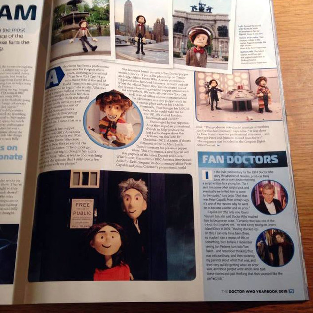 Doctor Puppet got a full page in Doctor Who Magazine in 2015!