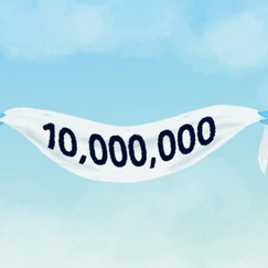 I designed and animated this banner using Procreate, Photoshop, and After Effects to mark Mashable reaching 10,000,000 Twitter followers. (We're almost there!)