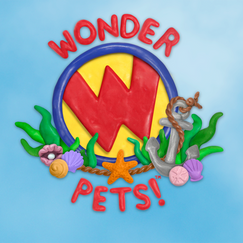 """I sculpted this clay logo for an episode of """"Wonder Pets!"""" I edited/composited the logo using Photoshop."""