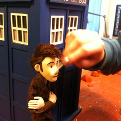 """The Tenth Doctor gets cleaned before his big debut in """"The Red X."""""""